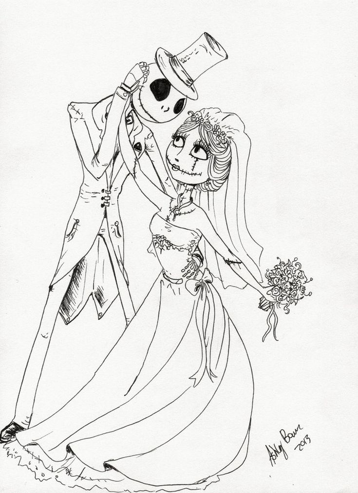 58 best Nightmare before Christmas coloring pages images on ...