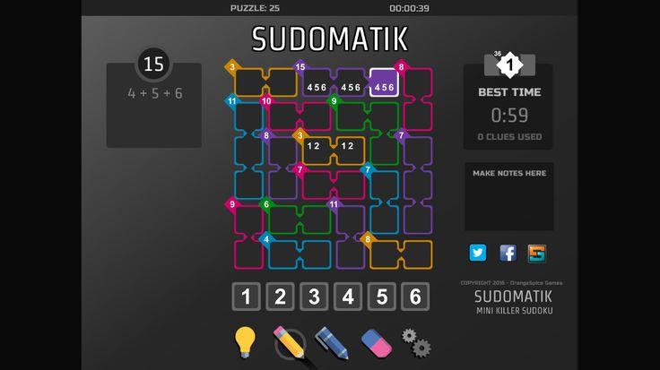 New Mini Killer Sudoku - SUDOMATIK  #puzzle #game #Sudoku #KillerSudoku #Android #Windows