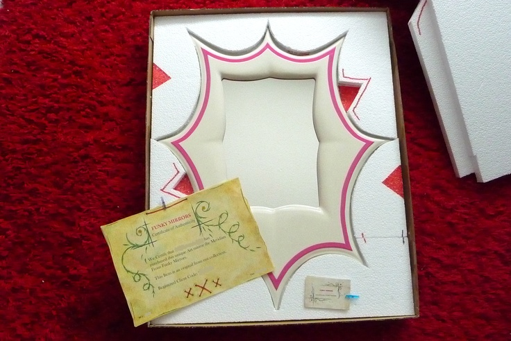 Our mirror comes with its very own special certificates. Here it is securely boxed up.