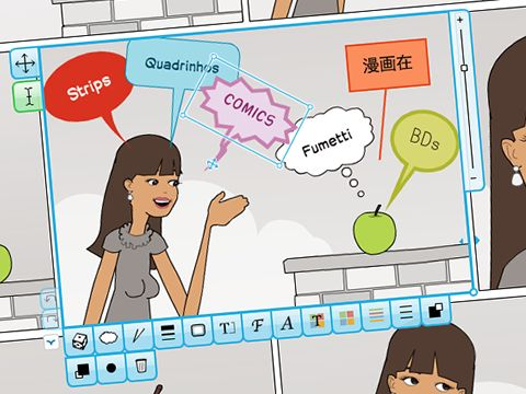 """This looks cool --- free website to make cartoons.  It has a """"for schools"""" section."""