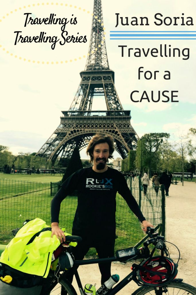 Juan Soria is travelling for a cause