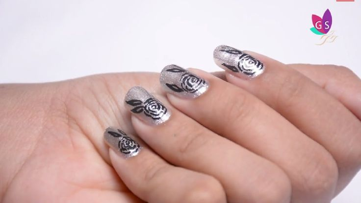 DIY Rose Nail art Designs step by step