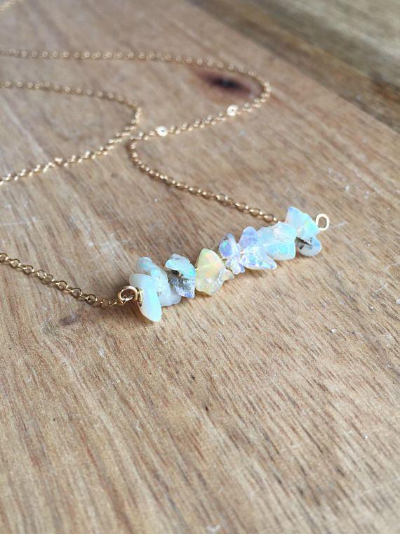Raw Opal Necklace Opal Necklace Opal Jewelry Opal