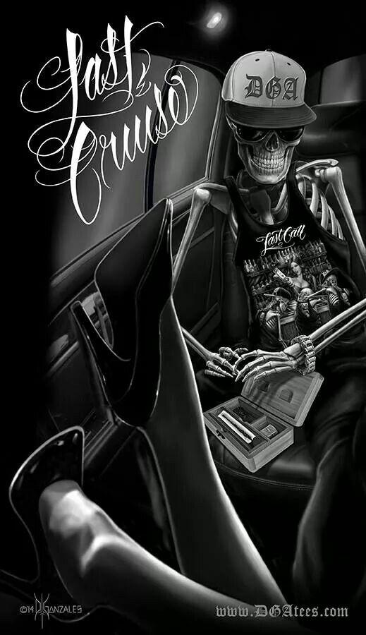 Skull Yiyo, Ismael, Demonios, Chicano Cráneo, Artes Chicano, Mierda  Chicano, Chicano Estilo, Flavaaah Chicano, Lowrider Arte Chicana