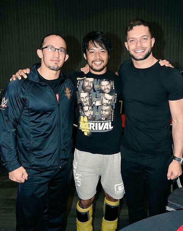 Neville, Hideo Itami, and Finn Balor