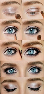 Shimmery eye shadow step-by-step #makeup #diy #beauty