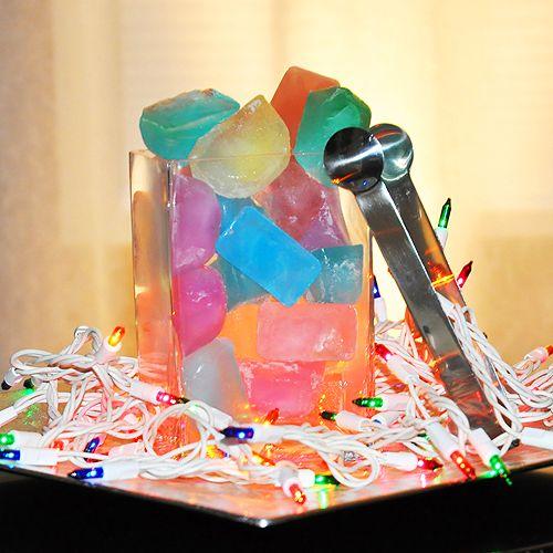 Rainbow Ice Cubes!Food Colors, Colors Ice, Nature Food, Ice Cubes, Rainbows Colors, Rainbows Ice, Parties Ideas, Foodcoloringdi Ice, Food Drinks