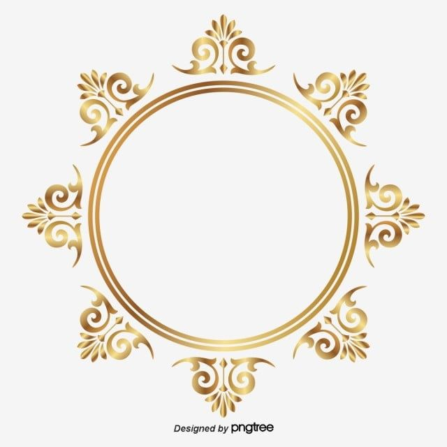Golden Circle Frame Malfunctions Pattern Thai Frame Vector Circle Vector Png And Vector With Transparent Background For Free Download Circle Frames Golden Circle Flower Frame