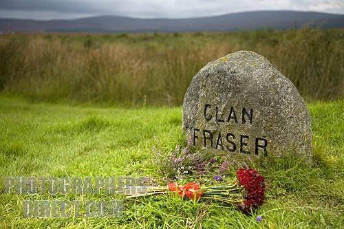 Clan Fraser marker stone , Culloden Moor , Scotland - I am ready to stand by my ain clan