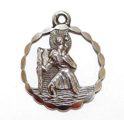 Vintage Sterling Silver Charm St Christopher Medal GJ Ltd Georg Jensen (2.5g)