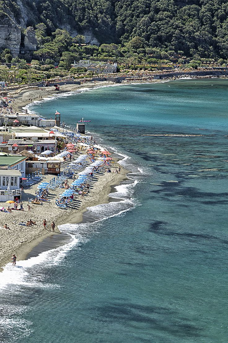 View Of Citara Beach In Ischia Island Art Print by Gone