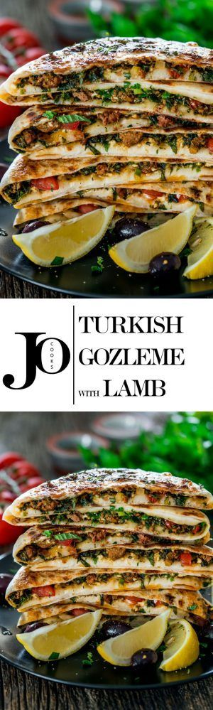Turkish Gozleme with Lamb - savoury homemade flatbreads from scratch filled with ground lamb, spices, herbs and feta cheese - such a delicious healthy meal full of flavour #mealinspiration...x