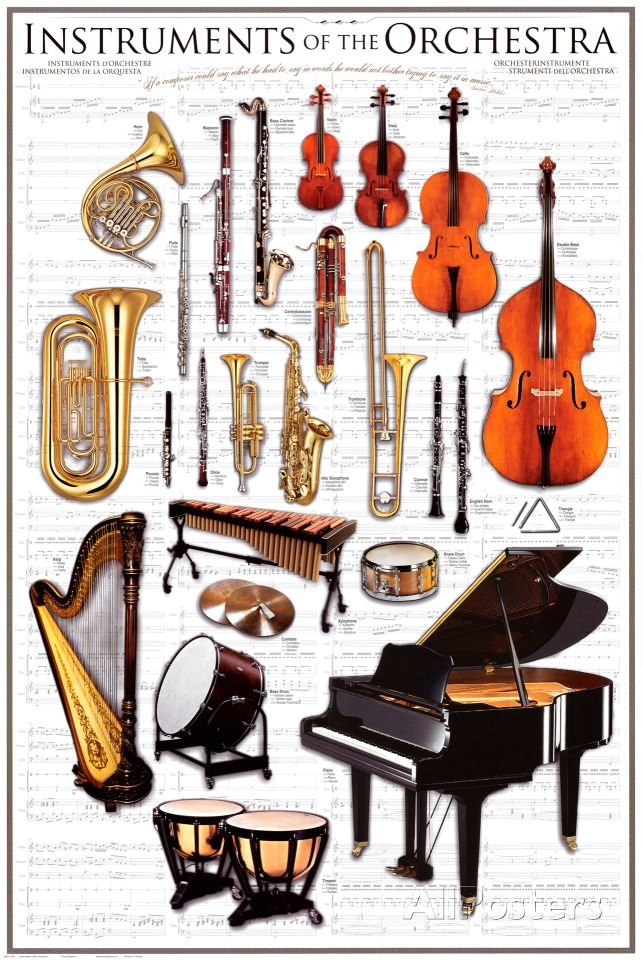 Instruments Symphony Orchestra Poster at AllPosters.com
