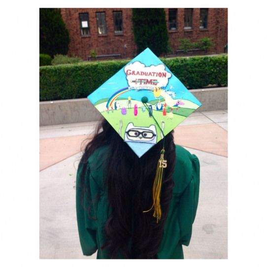 My Graduation cap with an adventure time design #collegegraduation #college #graduation #inspiration