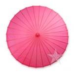 Color Paper Parasol Umbrella - Hot Pink