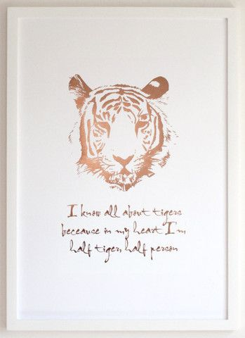 Tiger Print - Copper Foil