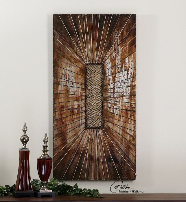 Uttermost beginnings this 3 demensional artwork is hand painted on wooden boards with metallic · metal wall