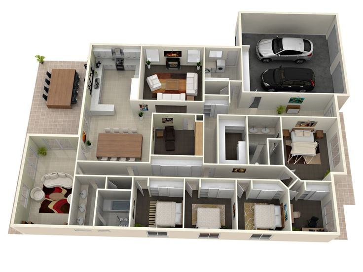 31 best 3d plans images on Pinterest Floor plans, Home layouts and