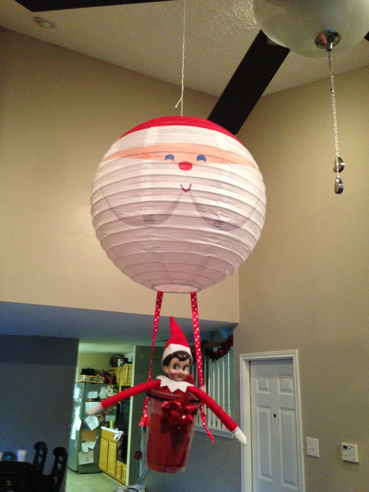 Elf on the shelf day 8 hot air balloon ride elf on for Elf on the shelf balloon ride