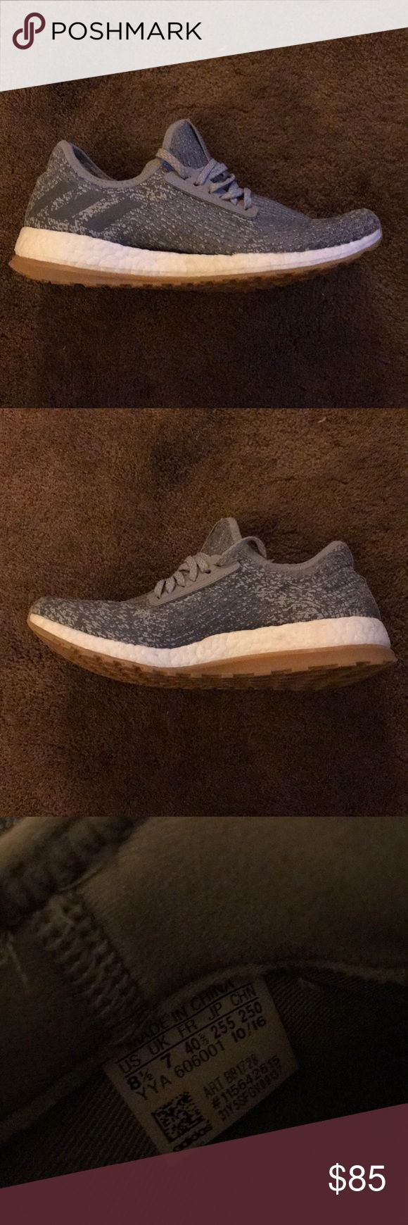 Adidas boost shoes Grey, gum sole, white boost. Lightly worn. Great condition. (With box) adidas Shoes Athletic Shoes