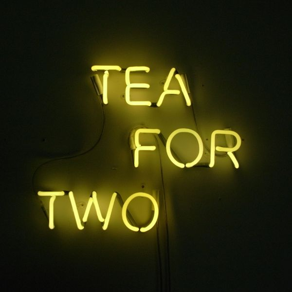 neon tea for two sign