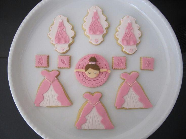 Pink ballerina cookies