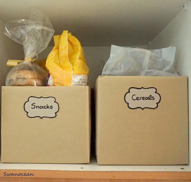 Organizing pantry without cost-Οργανώνοντας τα ντουλάπια τροφίμων χωρίς κόστος