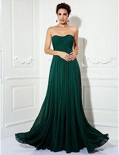 Vestido de noche verde valley