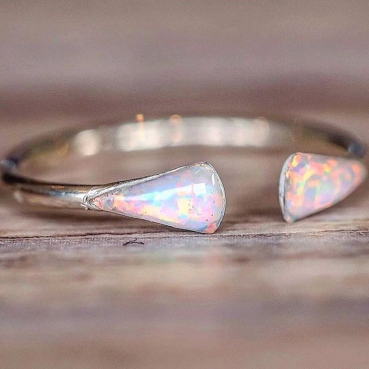 Mermaid Tail Opal Ring || Available in our 'Mermaid' Collection and also comes in Gold and Rose Gold || www.indieandharper.com