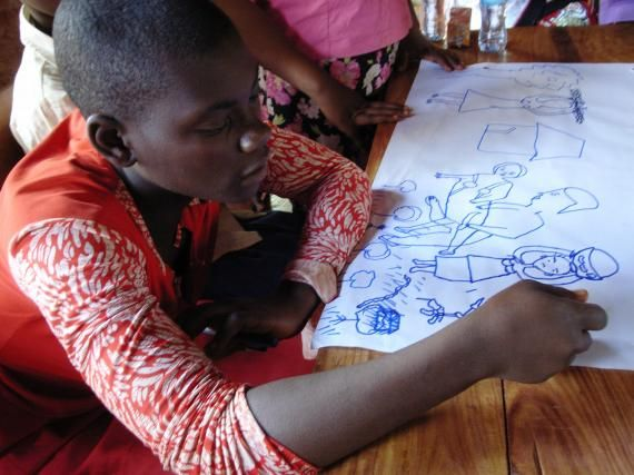The IRC works with 380 Congolese adolescent girls in Tanzania's Nyarugusu refugee camp, building their life and leadership skills