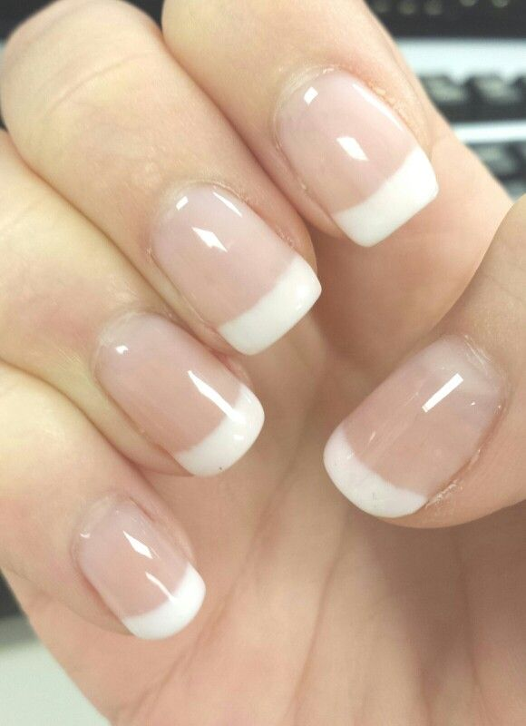 French Gel Nails at Home- I use the SensatioNail kit along with FingerPaints gel in Stay True to The Art (white)