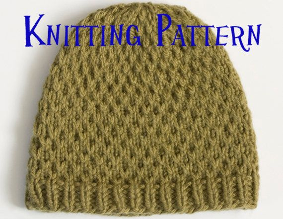 Slip Stitch Knit Hat Pattern : Instant Download PDF Knitting Pattern - Slip Stitch Beanie, Hat Knitt?