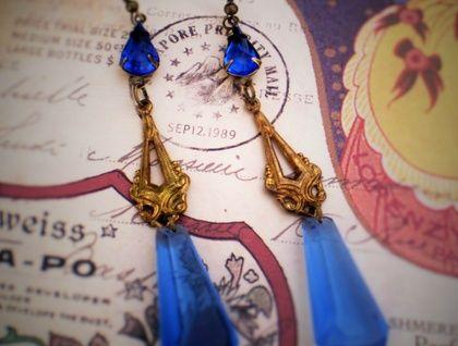 Vintage Hollywood glamour earrings