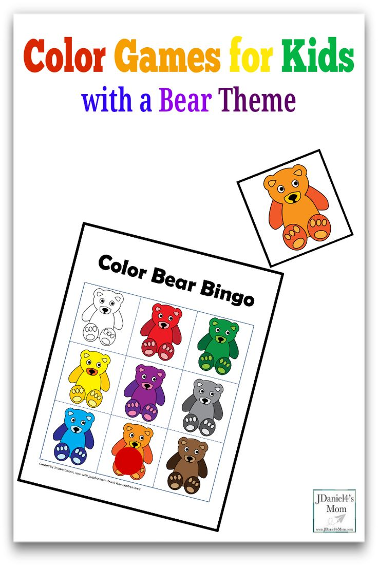 Primary color games for preschoolers - Color Games For Kids With A Bear Theme Pinterest Picture