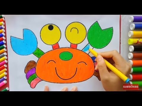 Coloring Crab and Owl for Kids to Learn Colors and How to Color NEW!