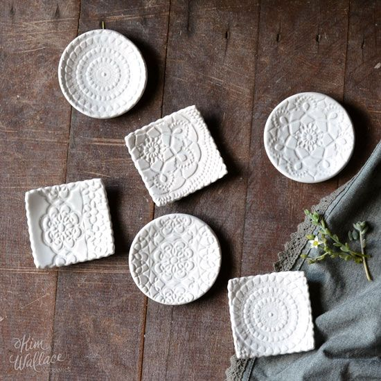 Vintage Lace tiny dishes