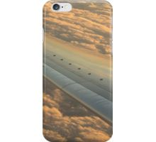 Airplane flying in sky wing in flight photo iPhone Case/Skin