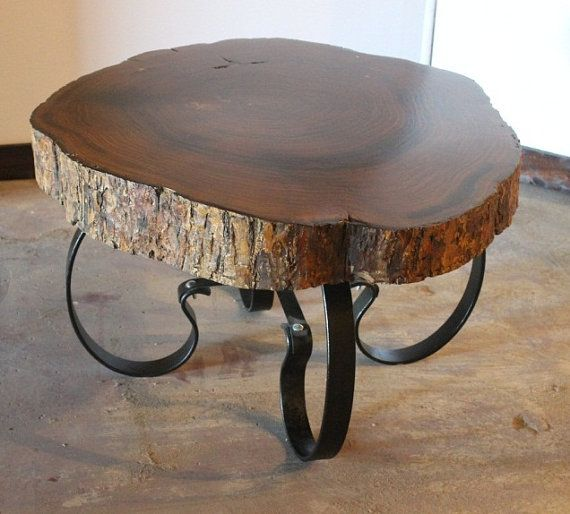 loooove this.. Handcrafted & Reclaimed Solid Wood Slab Coffee Table by AaCcBb, $1495.00