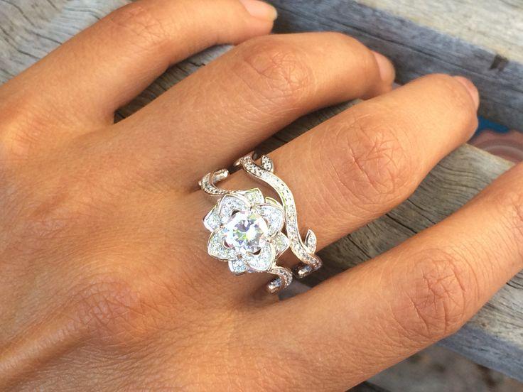 Best 20 Flower wedding rings ideas on Pinterest Expensive