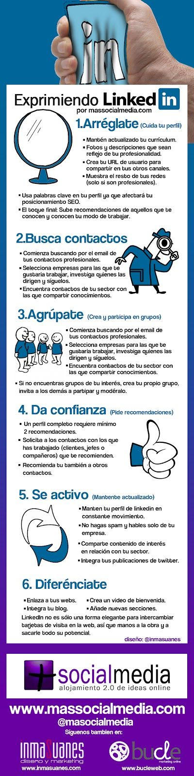 Exprimiendo #LinkedIn #infografia :: http://materialesmarketing.wordpress.com/2013/04/20/exprimiendo-linkedin-infografia/