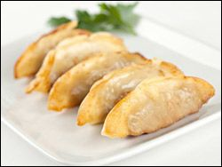 Squash potstickers from hungry girl.
