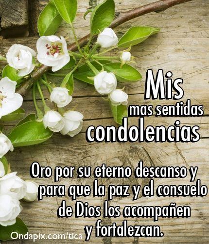 Condolencias!
