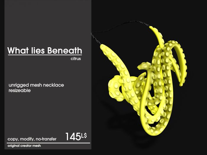What Lies Beneath Necklace - citrus available on L'accessories (starts June 15th, 2014)