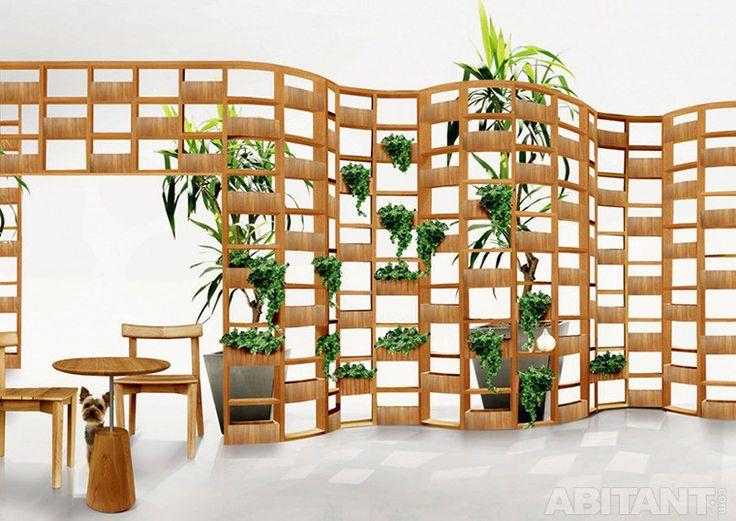 Ширма с живыми растениями