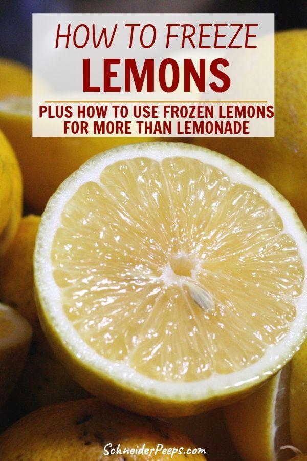 Freezing Lemons And Using Frozen