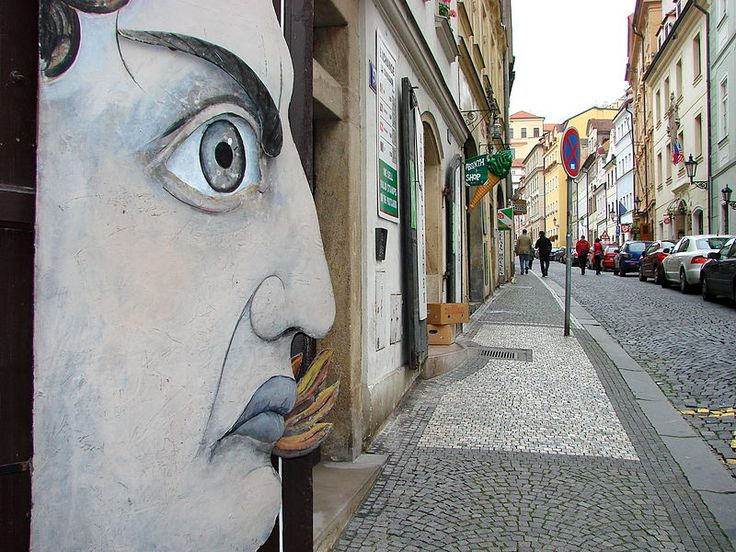 File:Street Scene with Public Art - Prague - Czech Republic.jpg