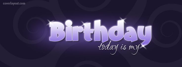 Purple Shiny Today Is My Birthday Facebook Cover CoverLayout.com