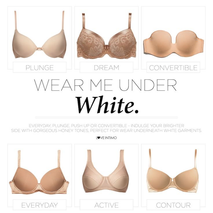 Wear me under white! Discover our range of beautiful Honey garments, undetectable when worn with your favourite white t-shirt! www.intimo.com.au