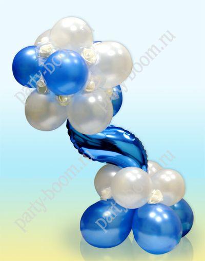 Композиция из шаров для морской свадьбы - Уроки мастерства - интернет-магазин «Патибум»