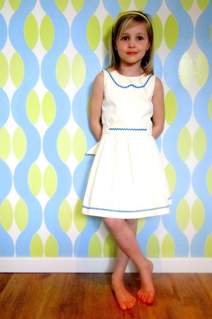 retro kinderkleding, zelfgemaakte kleertjes, patroon Babette